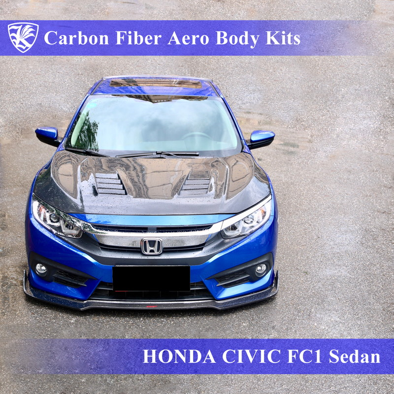 HONDA シビック 10代目 FC1 セダン Kerberos K'sスタイル 3D Real Carbon カーボンファイバーボディキット 5点キット