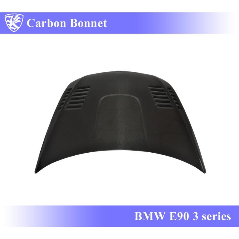 BMW E90 3シリーズ 前期 Kerberos K'sスタイル 3D Matte Real Carbon マットカーボンエアスクープボンネット Bタイプ 【AK-1-026】