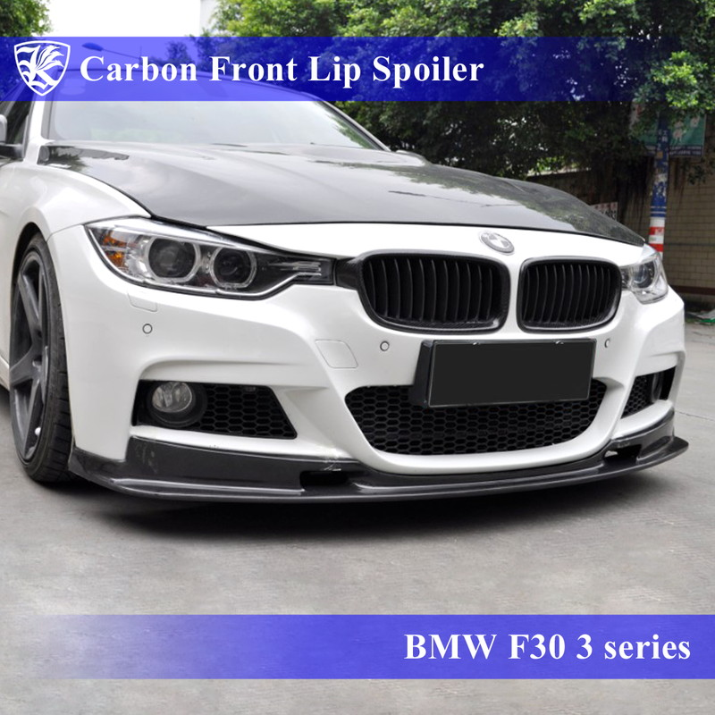 BMW F30 3シリーズ Mスポーツ Kerberos K'sスタイル 3D Matte Real Carbon マットカーボンフロントリップスポイラー Aタイプ 【AK-1-127】