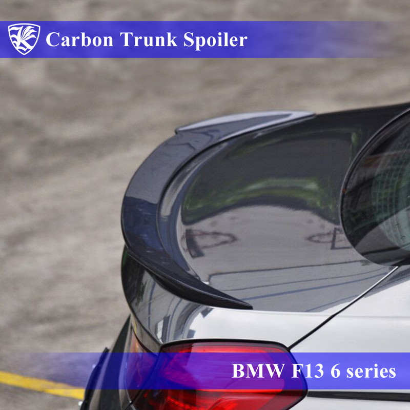 BMW F13 640I 前期 Kerberos K'sスタイル 3D Real Carbon カーボントランクスポイラー 【AK-1-216】