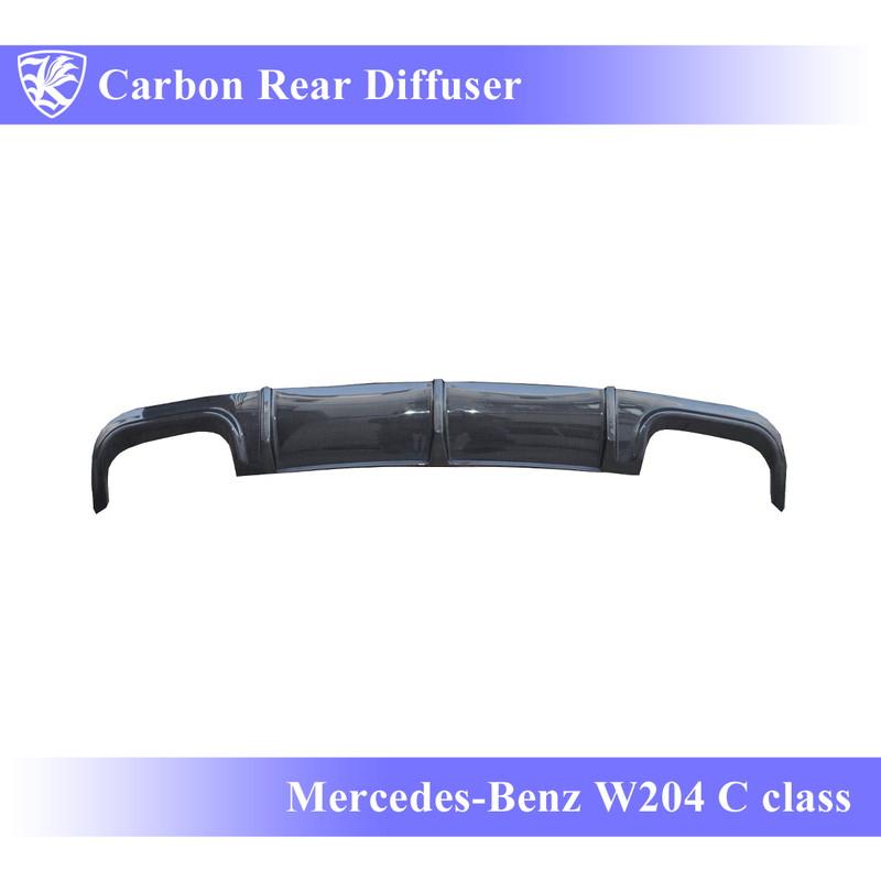 Mercedes-Benz W204 Cクラス 前期 Kerberos K'sスタイル K'sエアロ専用 3D Real Carbon カーボンリアディフューザー 【AK-2-030】
