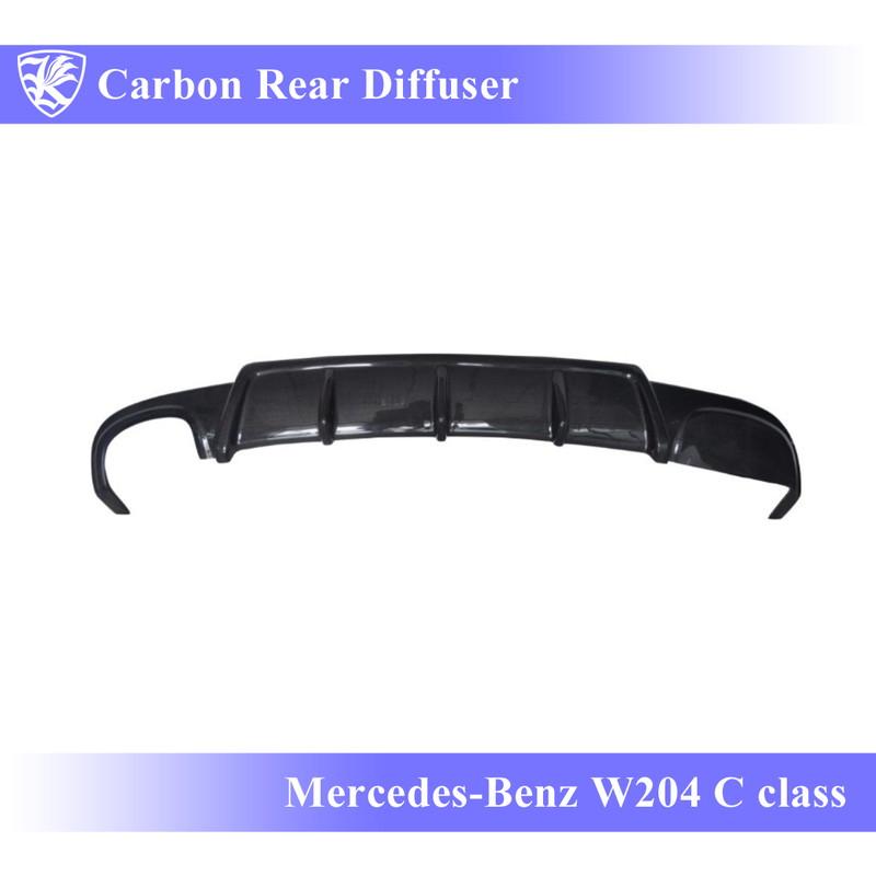 Mercedes-Benz W204 Cクラス 後期 Kerberos K'sスタイル 3D Real Carbon カーボンリアディフューザー Bタイプ 【AK-2-041】