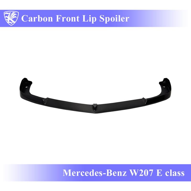 Mercedes-Benz W207 Eクラス 前期(09-11) Kerberos K'sスタイル 3D Real Carbon カーボンフロントリップスポイラー 【AK-2-083】
