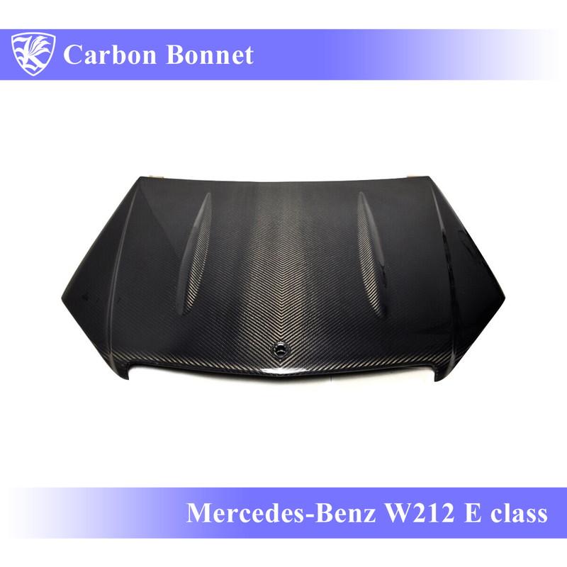 Mercedes-Benz W212 Eクラス 前期 Kerberos K'sスタイル 3D Real Carbon カーボンボンネット Bタイプ 【AK-2-141】