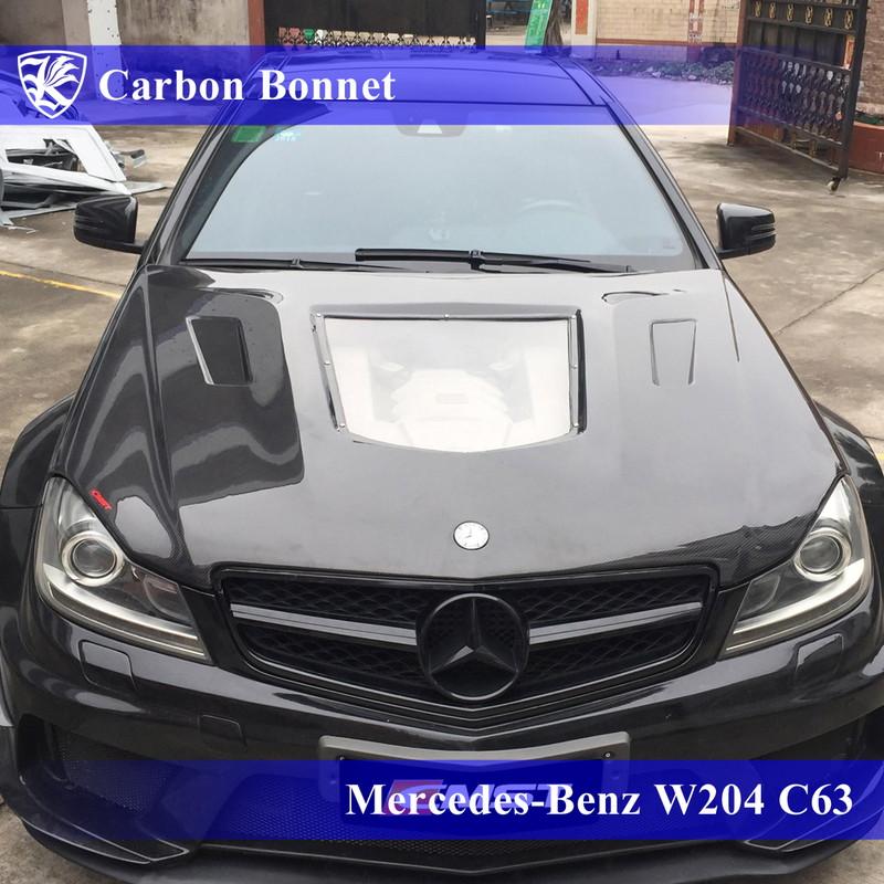 For Mercedes BENZ W204 C-Class LCI 4D Sedan Rear Bumper Diffuser C250 2012-2013