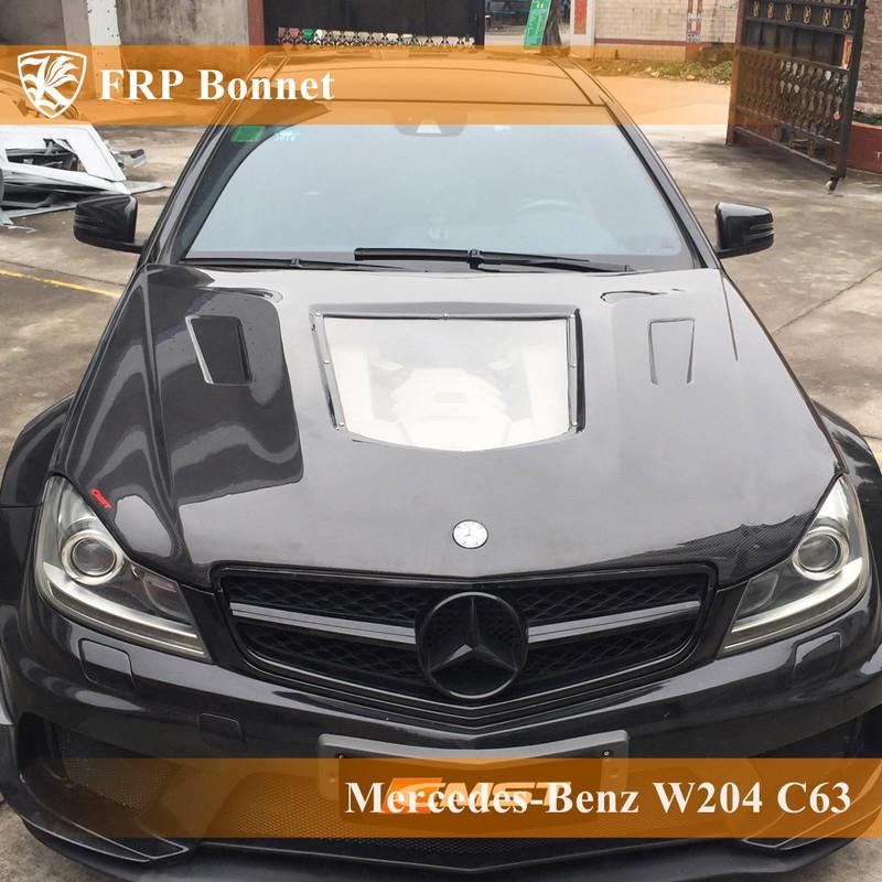 Mercedes-Benz W204 C63 後期 Kerberos K'sスタイル FRP ボンネット Bタイプ 【AK-2-171】