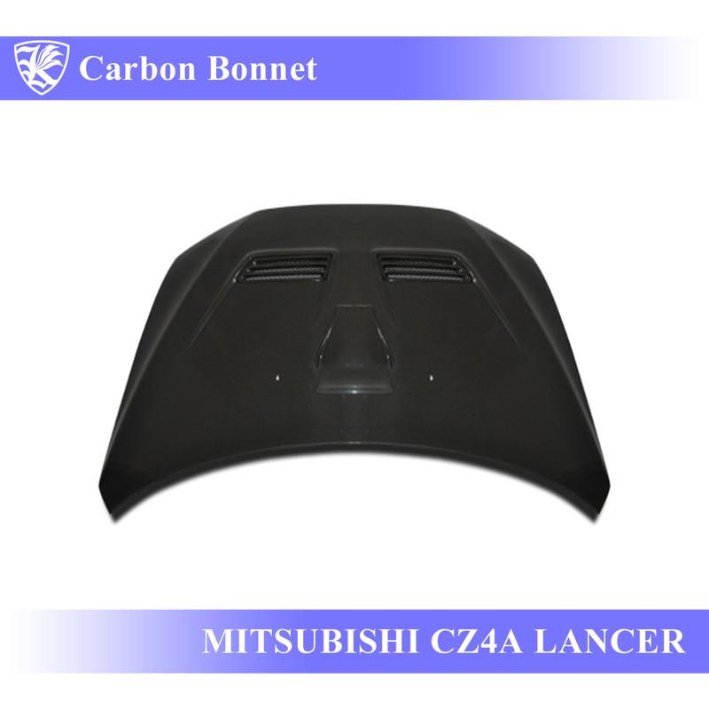MITSUBISHI ランサーエボリューションX CZ4A Kerberos K'sスタイル 3D Real Carbon カーボンエアスクープボンネット Cタイプ 【AK-3-028】