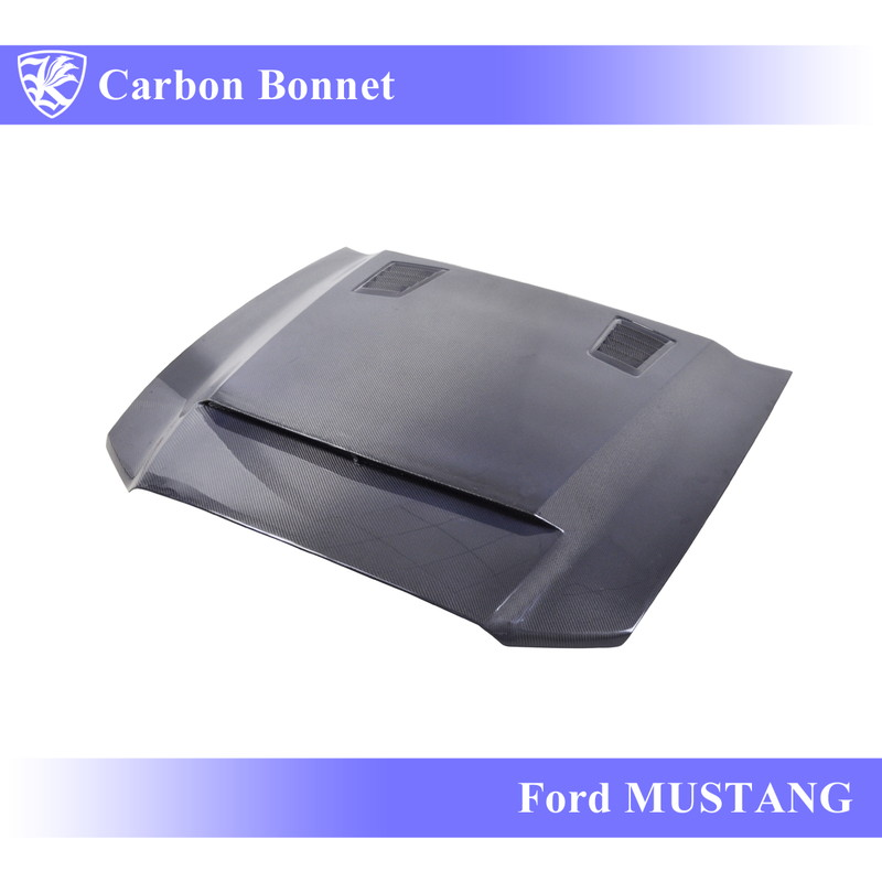 Ford マスタング GT500 (09-13) Kerberos K'sスタイル 3D Real Carbon カーボンエアスクープボンネット 【AK-6-011】