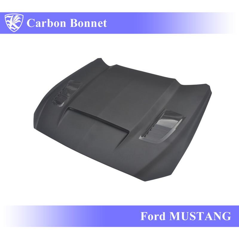 Ford マスタング Kerberos K'sスタイル 3D Real Carbon カーボンエアスクープボンネット 【AK-6-013】