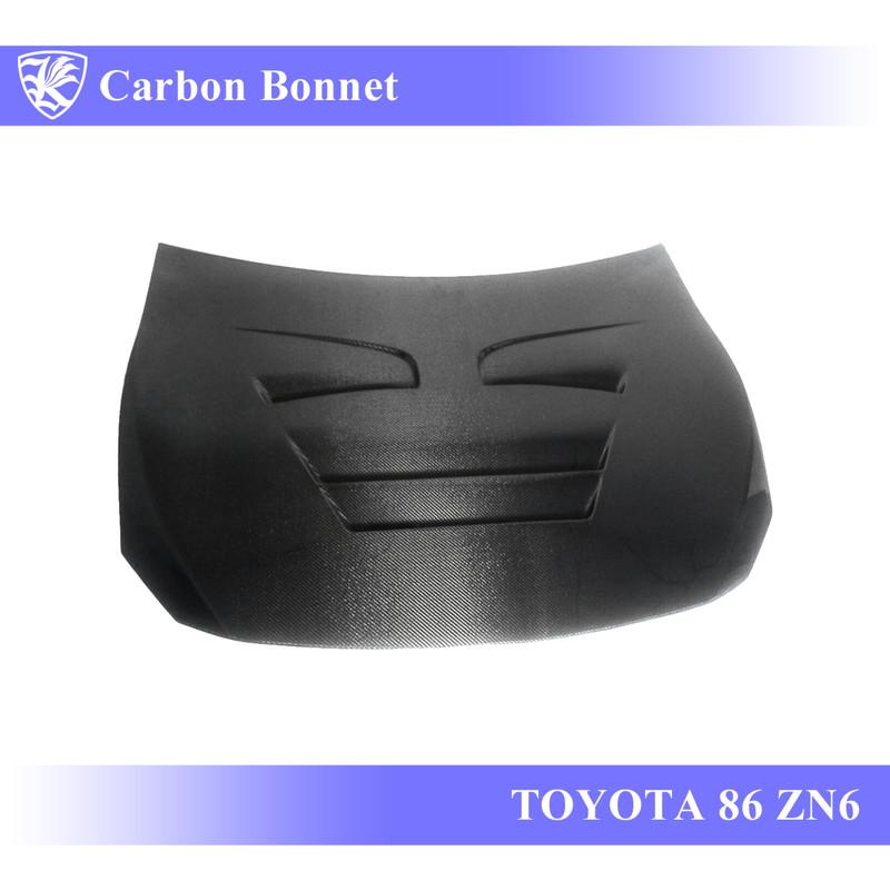 TOYOTA 86 ZN6 前期 Kerberos K'sスタイル 3D Real Carbon カーボンエアスクープボンネット Cタイプ 【AK-13-073】