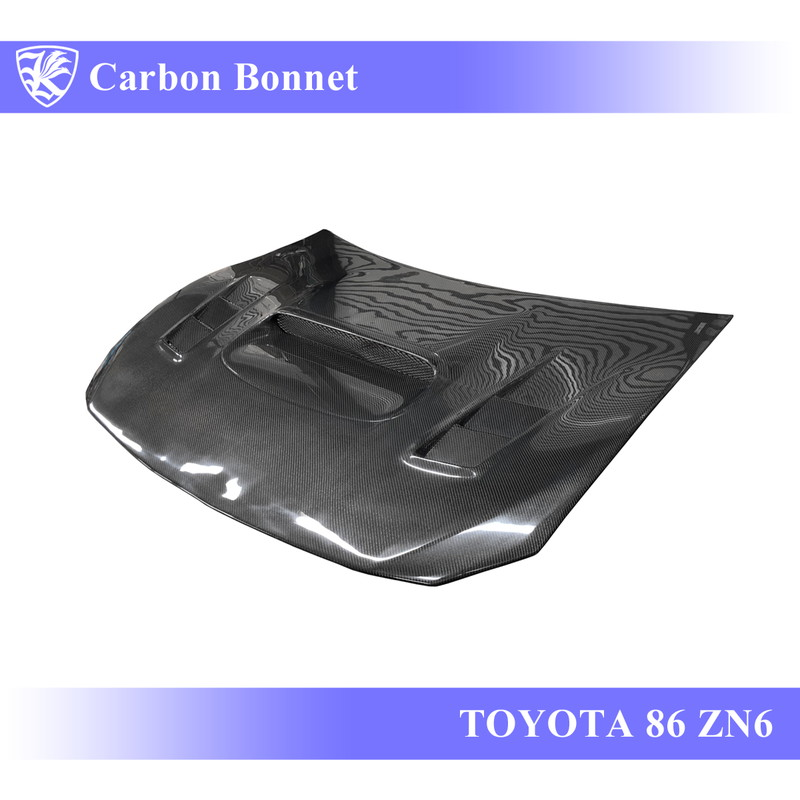 TOYOTA 86 ZN6 前期 Kerberos K'sスタイル 3D Real Carbon カーボンエアスクープボンネット Eタイプ 【AK-13-097】