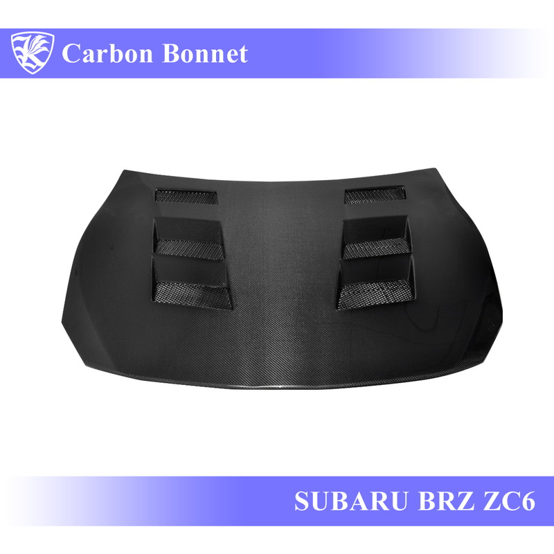SUBARU BRZ ZC6 前期 Kerberos K'sスタイル 3D Real Carbon カーボンエアスクープボンネット Dタイプ 【AK-13-088】