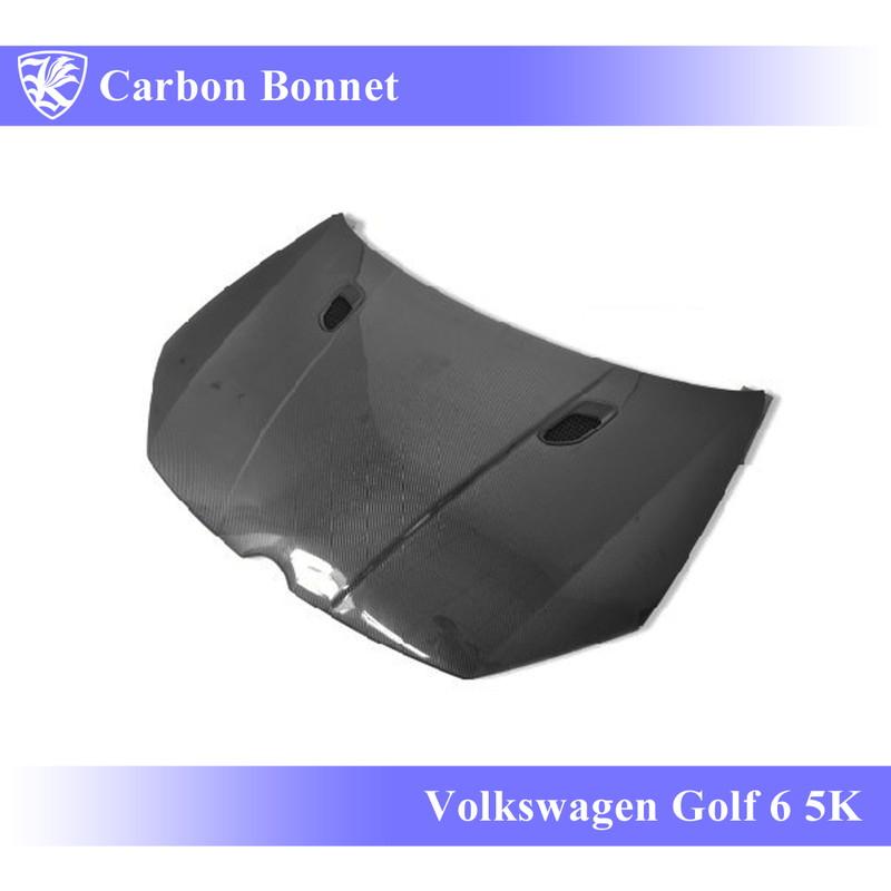 Volkswagen ゴルフ6 5K型 Kerberos K'sスタイル 3D Real Carbon カーボンエアスクープボンネット Bタイプ 【AK-15-033】