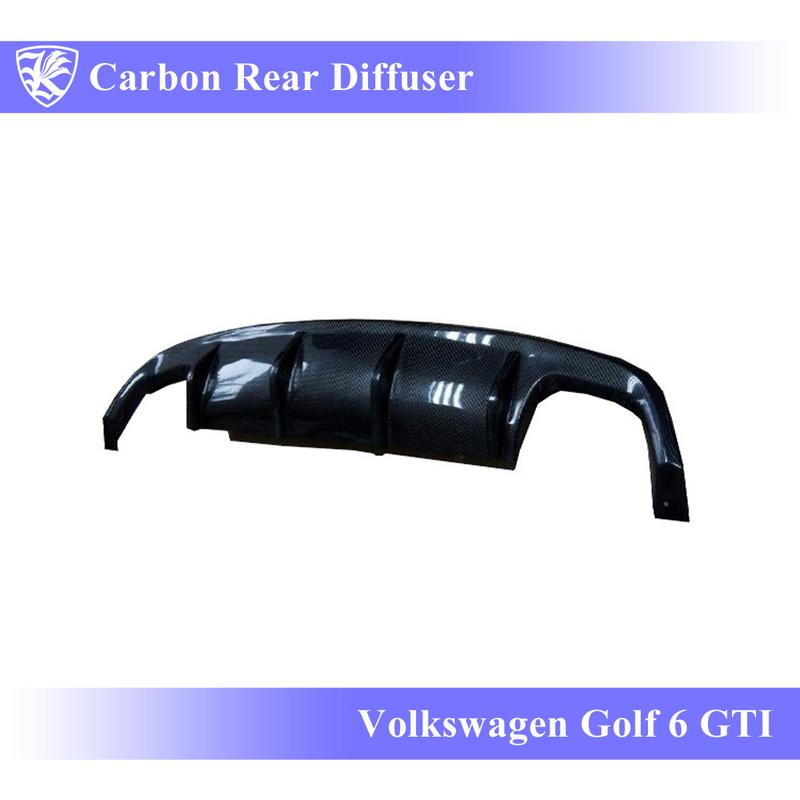 Volkswagen ゴルフ6 GTI Kerberos K'sスタイル 3D Real Carbon カーボンリアディフューザー 【AK-15-048】