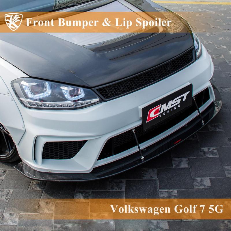 Volkswagen ゴルフ7 5G 前期 Kerberos K'sスタイル フロントバンパー&リップスポイラー&グリル 【AK-15-064】