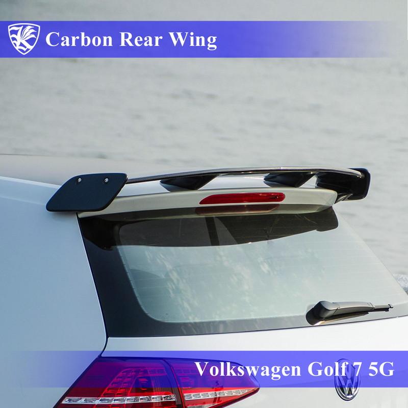 Volkswagen Real Kerberos 3D カーボンリアウィング Carbon ゴルフ7 前期 5G K'sスタイル 【AK-15-068】