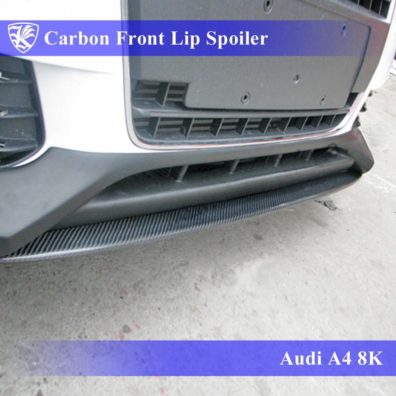 Audi A4 8K 前期 Kerberos K'sスタイル 3D Real Carbon カーボンフロントボトムカナード 【AK-16-012】