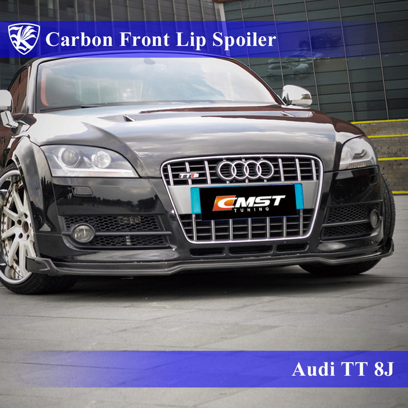 Audi TTクーペ 8J Kerberos K'sスタイル 3D Real Carbon カーボンフロントリップスポイラー 【AK-16-023】
