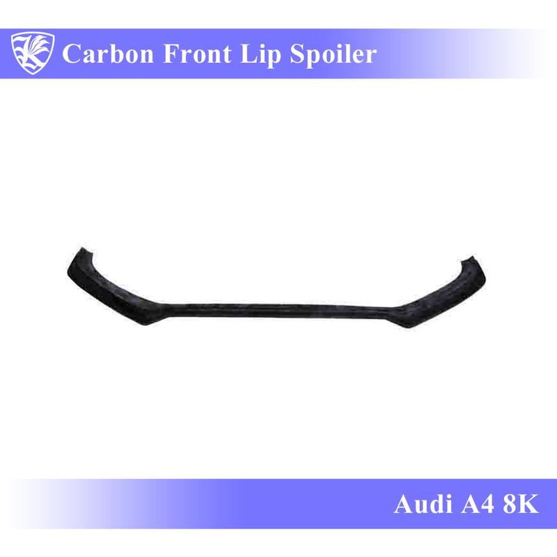 K'sスタイル Audi Kerberos A4 3D 後期 カーボンフロントリップスポイラー 【AK-16-028】 Real Carbon 8K