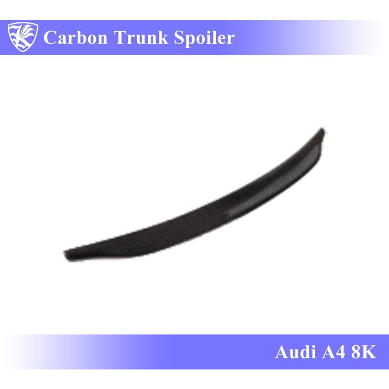 Audi A4 8K 後期 Kerberos K'sスタイル 3D Real Carbon カーボントランクスポイラー 【AK-16-032】