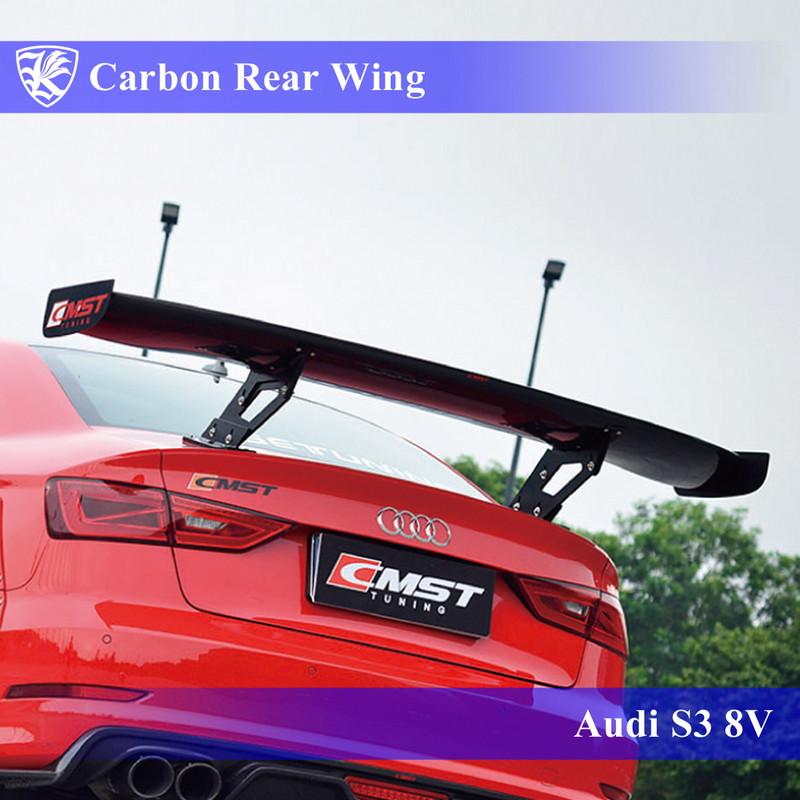 低価格の Audi S3 8V セダン Kerberos Real K'sスタイル 3D Real Carbon カーボンGTワイドリアウィング, コスプレ衣装ウィッグのUNO:7299f729 --- mail.galyaszferenc.eu