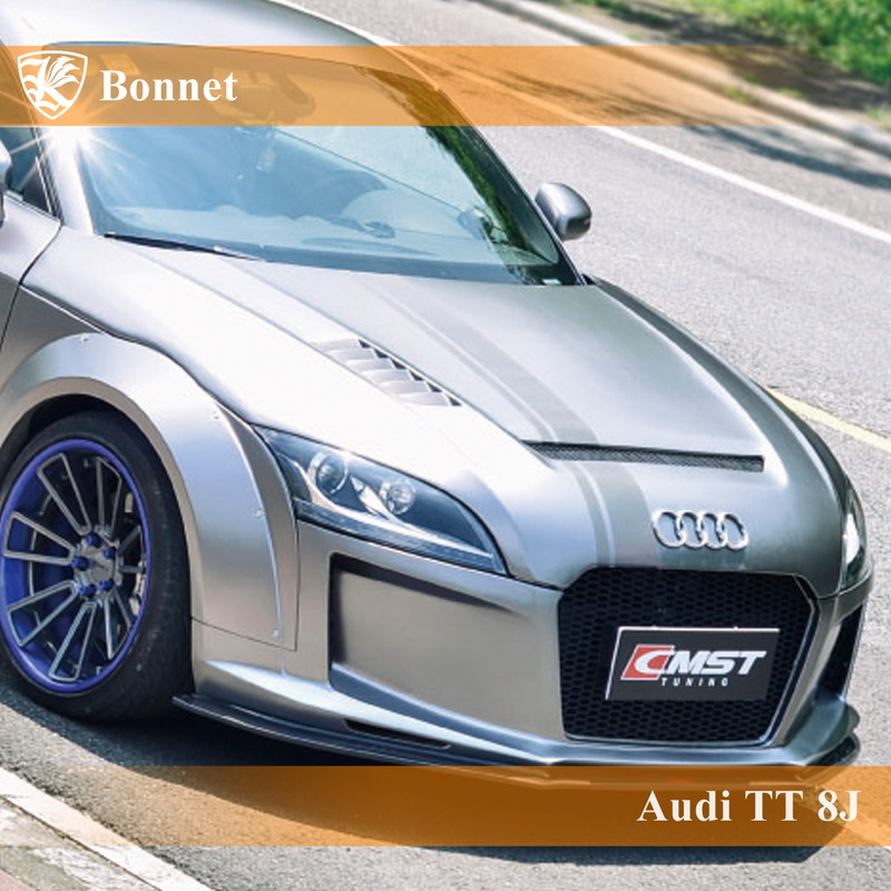 Audi TTクーペ 8J Kerberos K'sスタイル FRP エアスクープボンネット Bタイプ