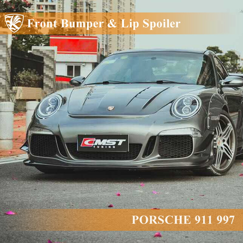 PORSCHE 911 997 Kerberos 991GT3ルック フロントバンパー&リップスポイラー 【AK-18-050】
