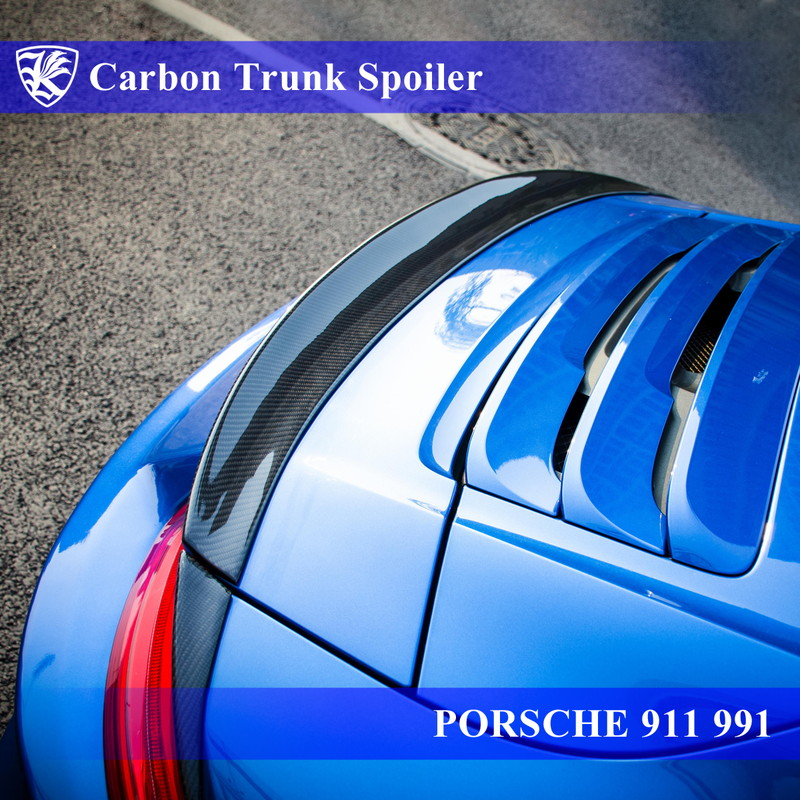 PORSCHE 911 991 前期 Kerberos K'sスタイル 3D Real Carbon カーボントランクスポイラー 【AK-18-070】