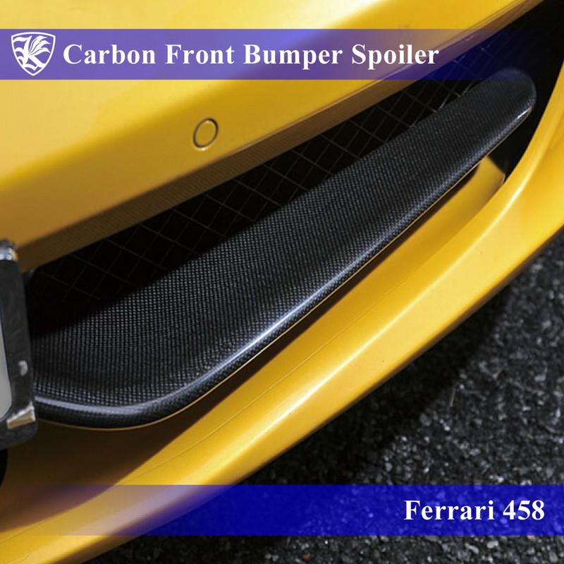 Ferrari 458 Kerberos K'sスタイル 3D Matte Real Carbon マットカーボンフロントバンパースポイラー 左右セット 【AK-21-002】