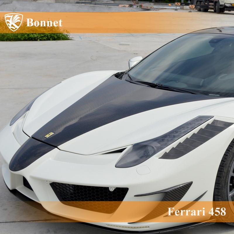Ferrari 458 Kerberos K'sスタイル FRP&3D Real Carbon ボンネット 【AK-21-014】