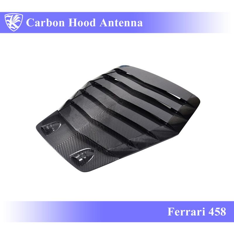 Ferrari 458 Kerberos K'sスタイル 3D Matte Real Carbon マットカーボンフードアンテナ 【AK-21-017】