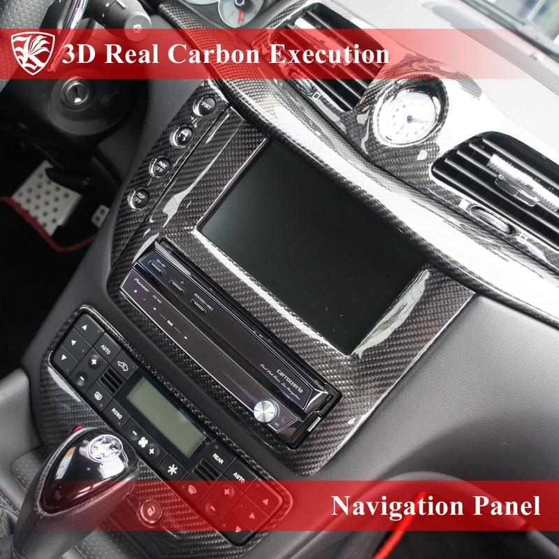 Kerberos 3D Real Carbon施工 ナビパネル リアルカーボン施工 1点 【Black】【Red】【Silver】 カーボンカラー選択可能