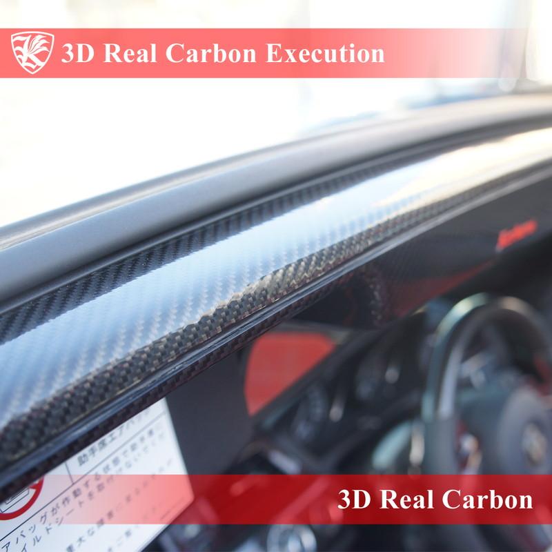 Kerberos 3D Real Carbon施工 内装パーツ(大型) リアルカーボン施工 1点 【Black】【Red】【Silver】 カーボンカラー選択可能