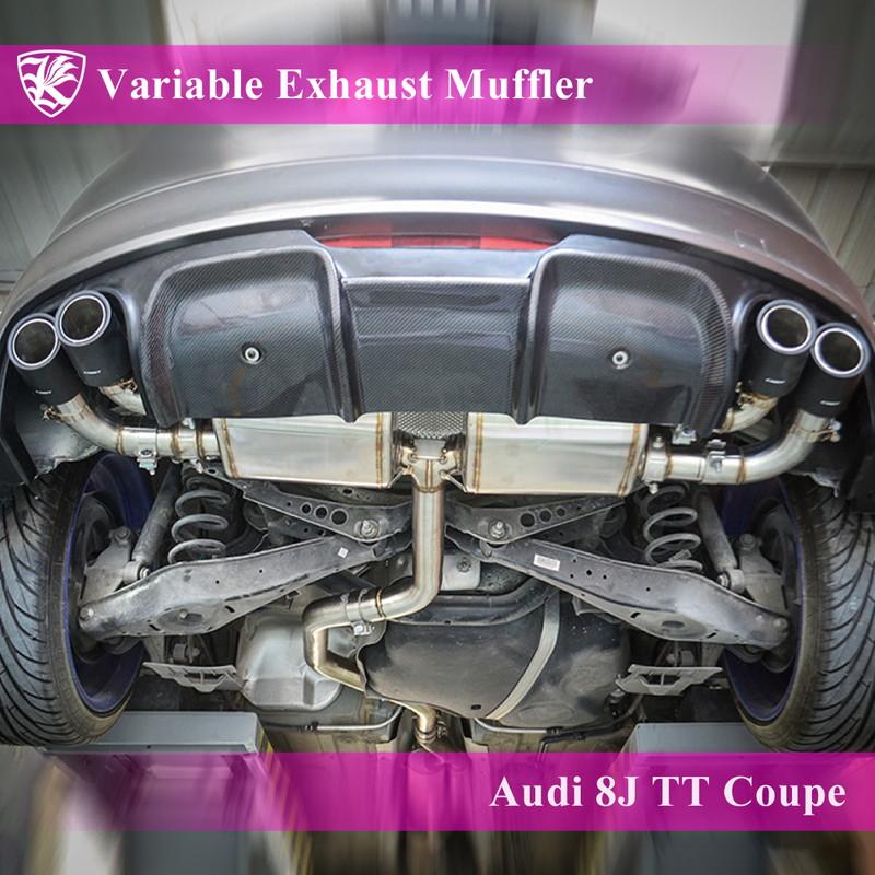 Audi TTクーペ 8J Kerberos K'sマフラー 可変バルブ付 左右2本出し ステンレスエキゾーストマフラー 【KMUF-AUTT8J-2】