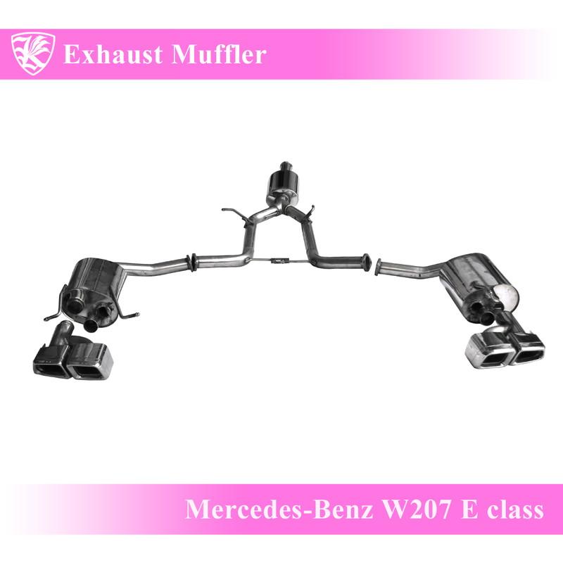 Mercedes-Benz W207 クーペ Kerberos K'sマフラー 左右2本出し ステンレスエキゾーストマフラー 【MUF-BENW212SC】