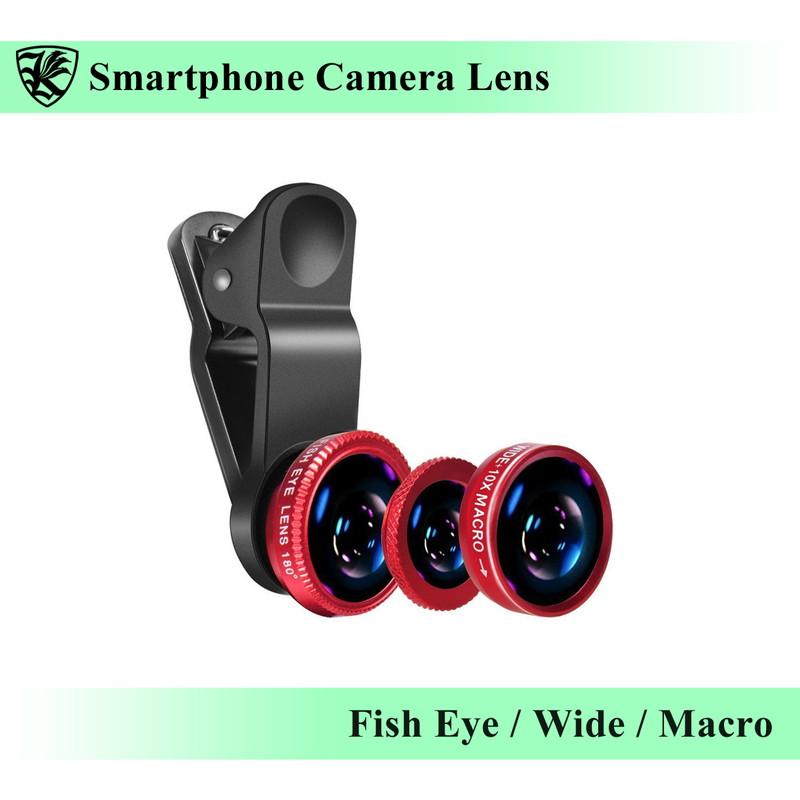 スマフォ カメラレンズ 魚眼レンズ 広角レンズ マクロレンズ スマートフォン クリップ式 iPhone Android レッド 信託 在庫あり タブレットなどのデバイスに 自撮り AK-PH-018R SNS写真に最適