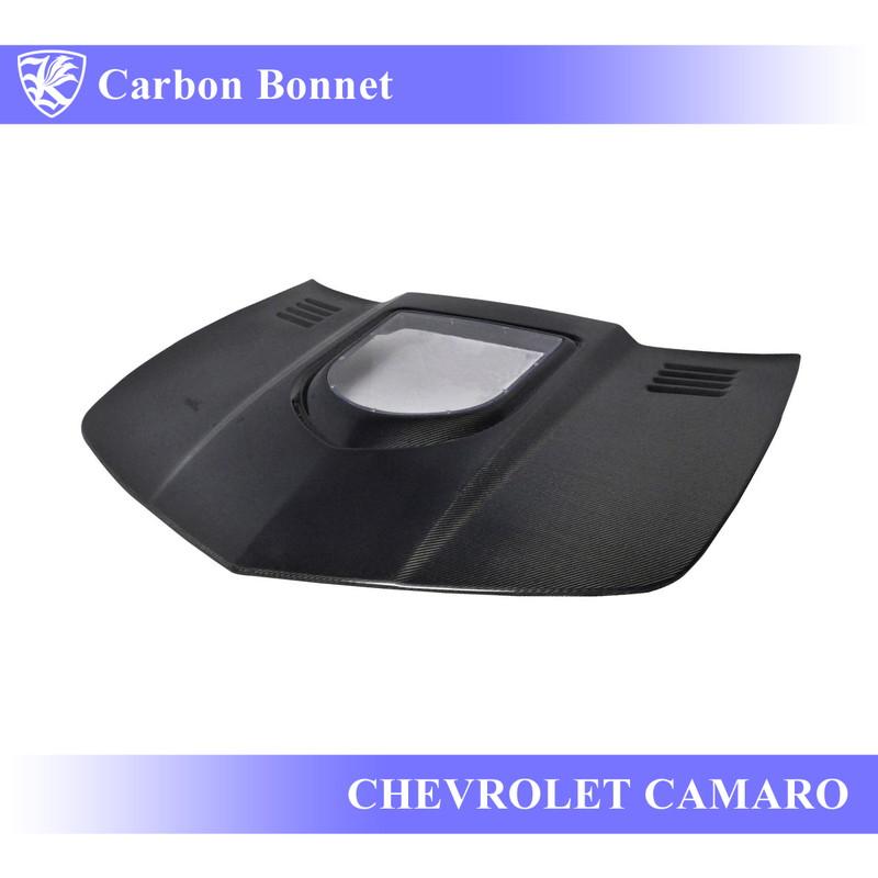 CHEVROLET カマロ 5代目 前期 Kerberos K'sスタイル 3D Real Carbon カーボンエアスクープボンネット B1タイプ 【AK-7-026】