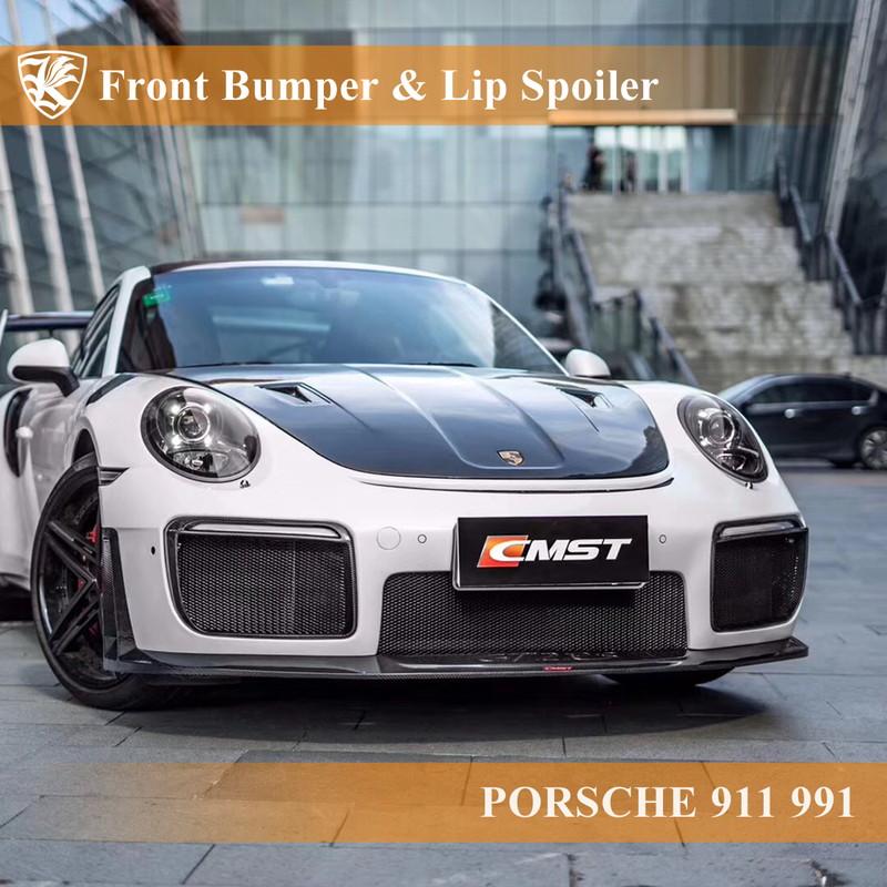 PORSCHE 911 991 Kerberos GT2 RSルック フロントバンパー&リップスポイラー&ガーニッシュ 【AK-18-100】