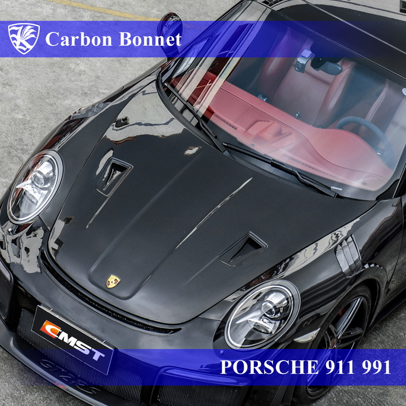 PORSCHE 911 991 Kerberos GT2 RSルック 3D Real Carbon カーボンボンネット 【AK-18-105】