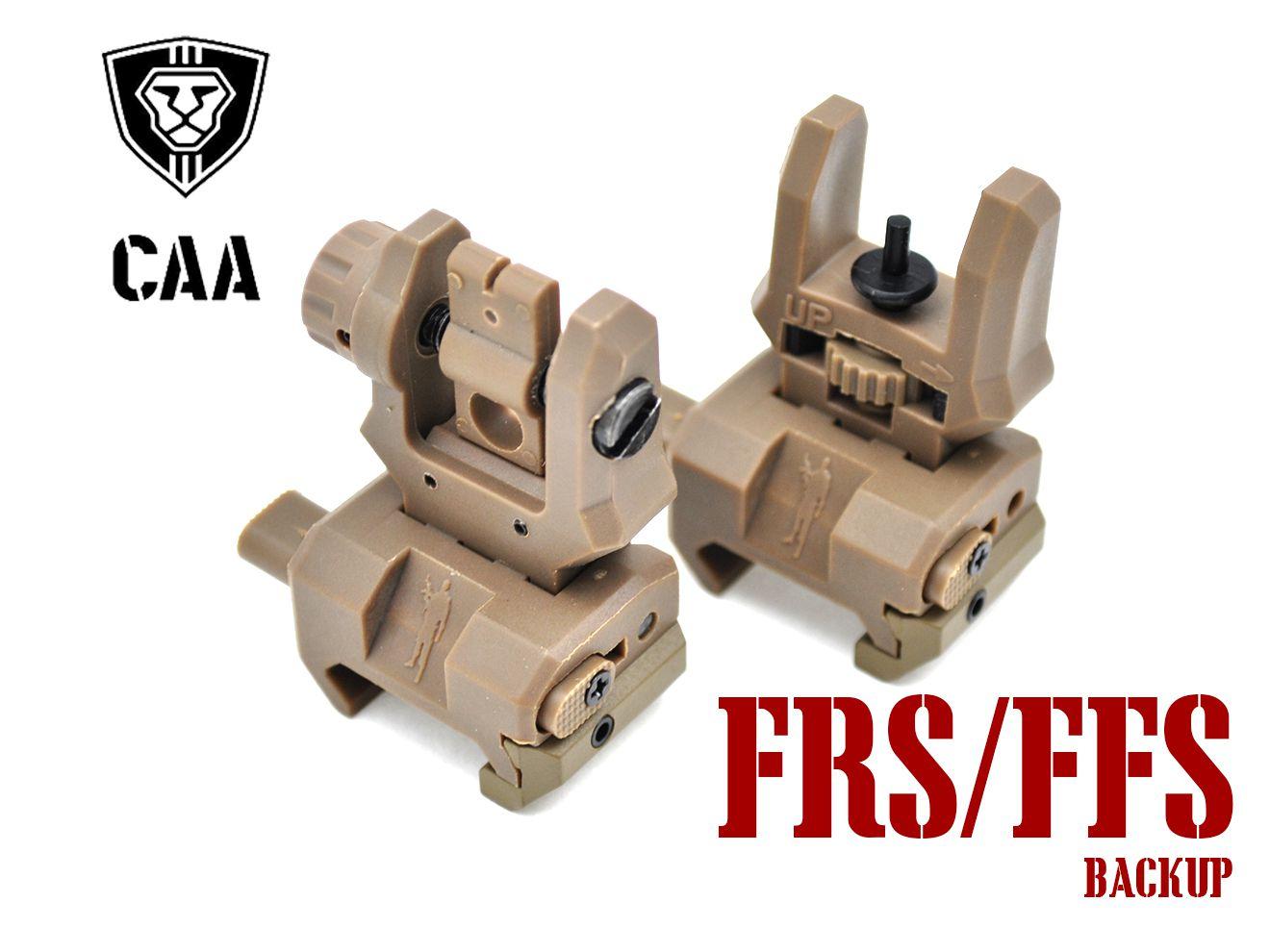 CAA Airsoft FRS+FFS バックアップサイト DE★電動ガン エアガン AEG M4A1 東京マルイ ガスガン