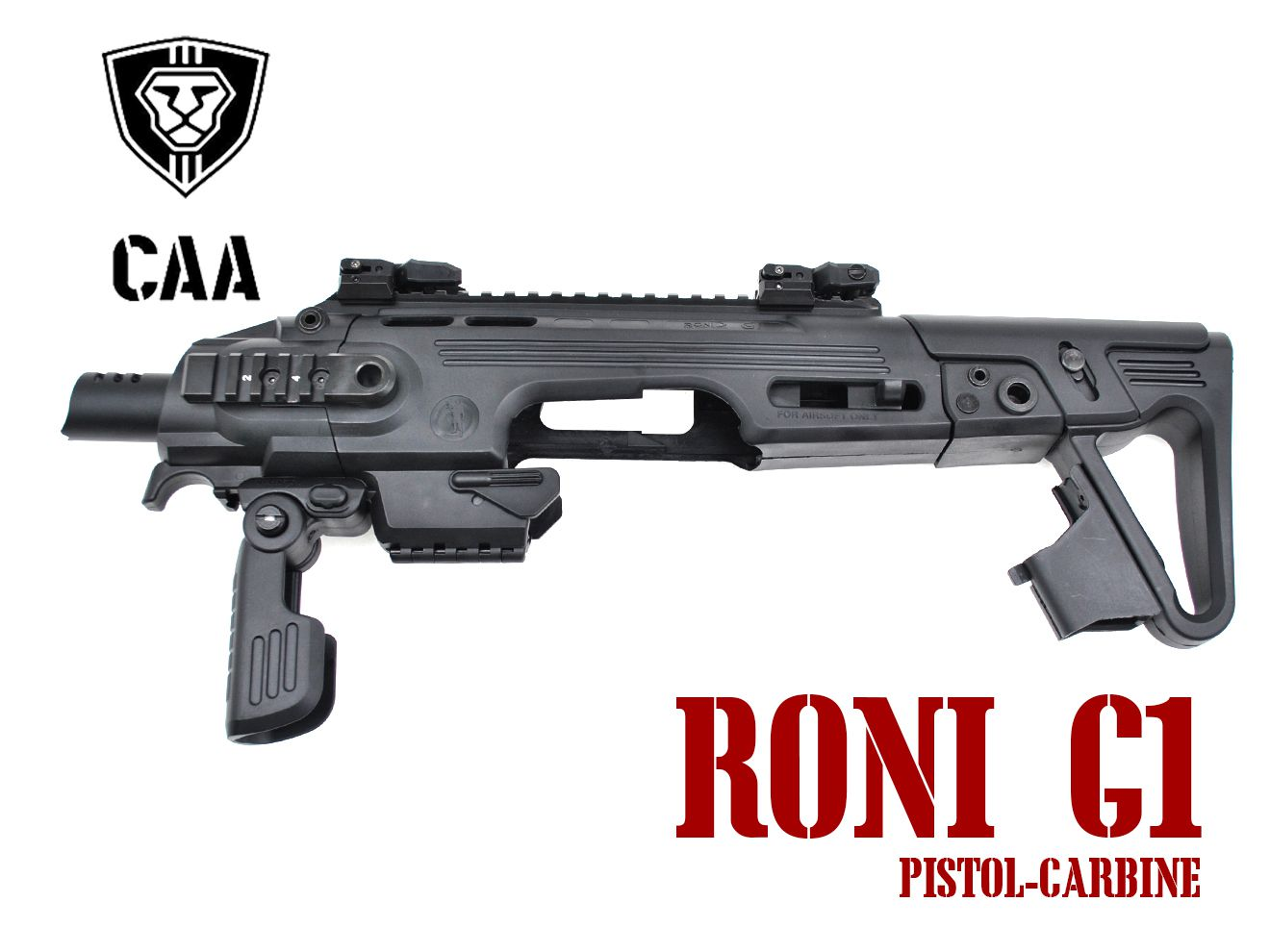 CAA Airsoft RONI G1 Pistol-Carbine コンバージョン for Glock BK
