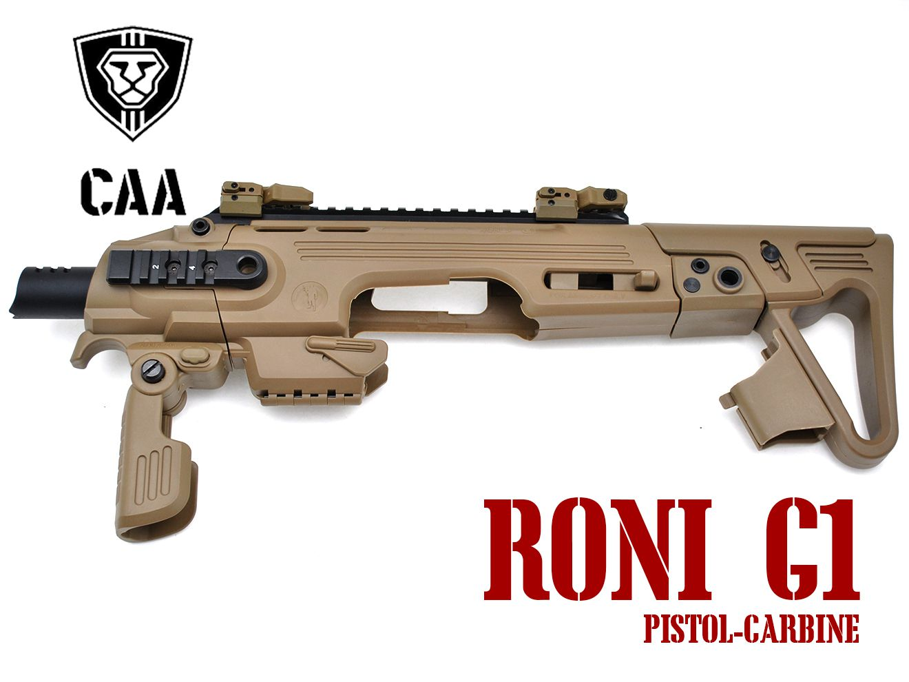 CAA Airsoft RONI G1 Pistol-Carbine コンバージョン for Glock DE