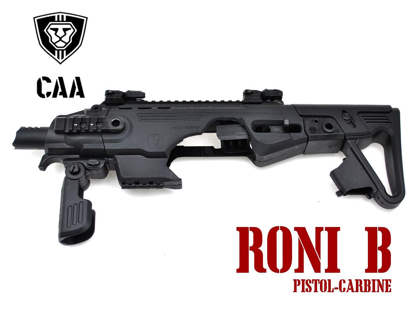 CAA Airsoft RONI-B Pistol-Carbine コンバージョン for M92F/M9A1 BK