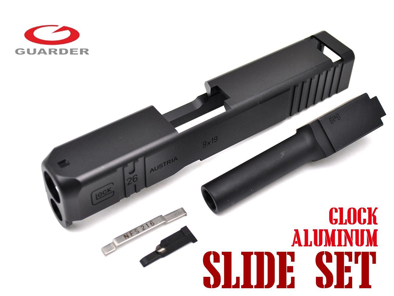 GUARDER CNC カスタムアルミスライド&スチールバレル キット TM G26 BK