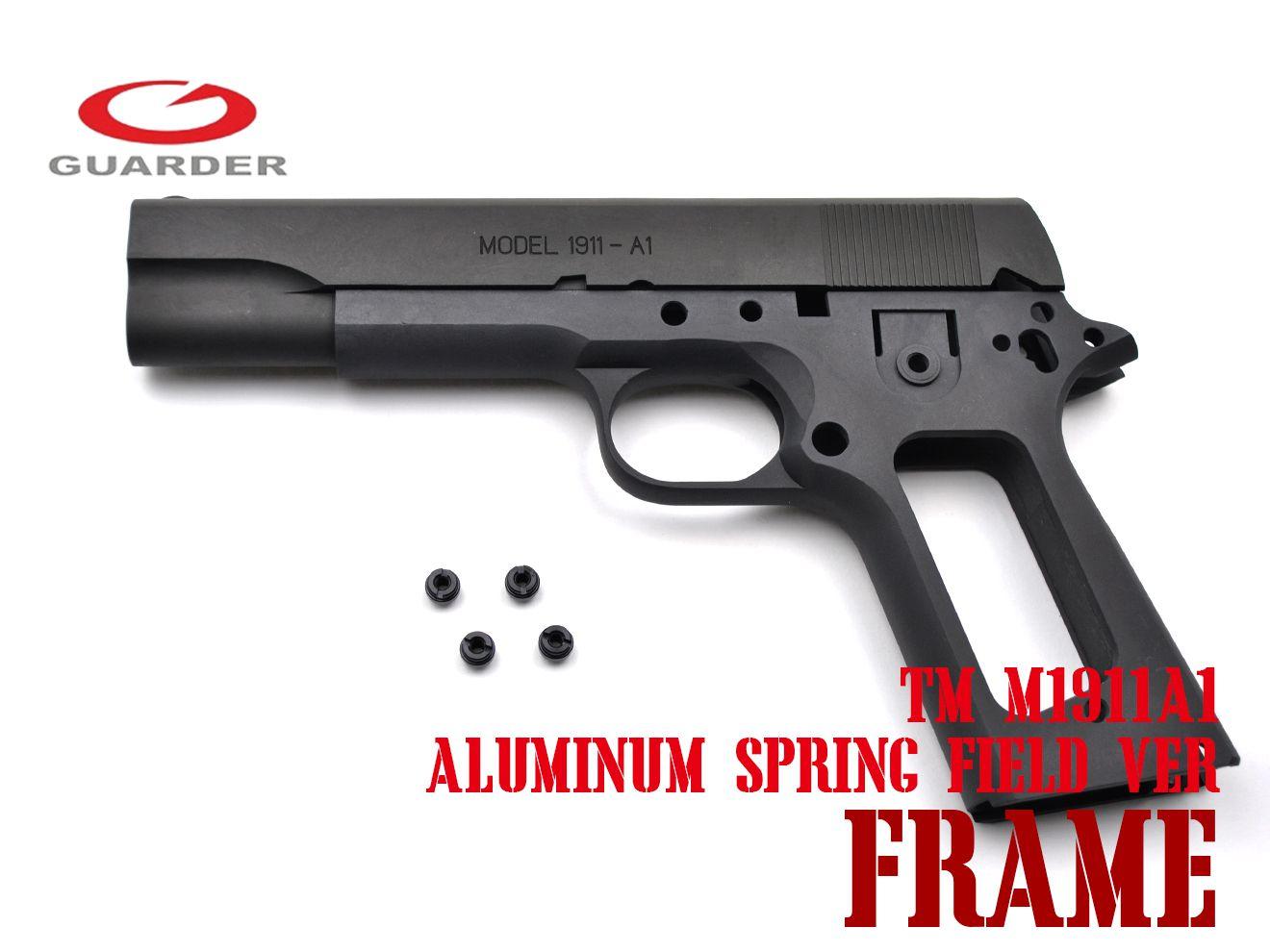 GUARDER SPRING FIELD Ver アルミスライド&フレーム セット for TM M1911 DG★東京マルイ ガーダー ハンドガン GBB ガスブロ