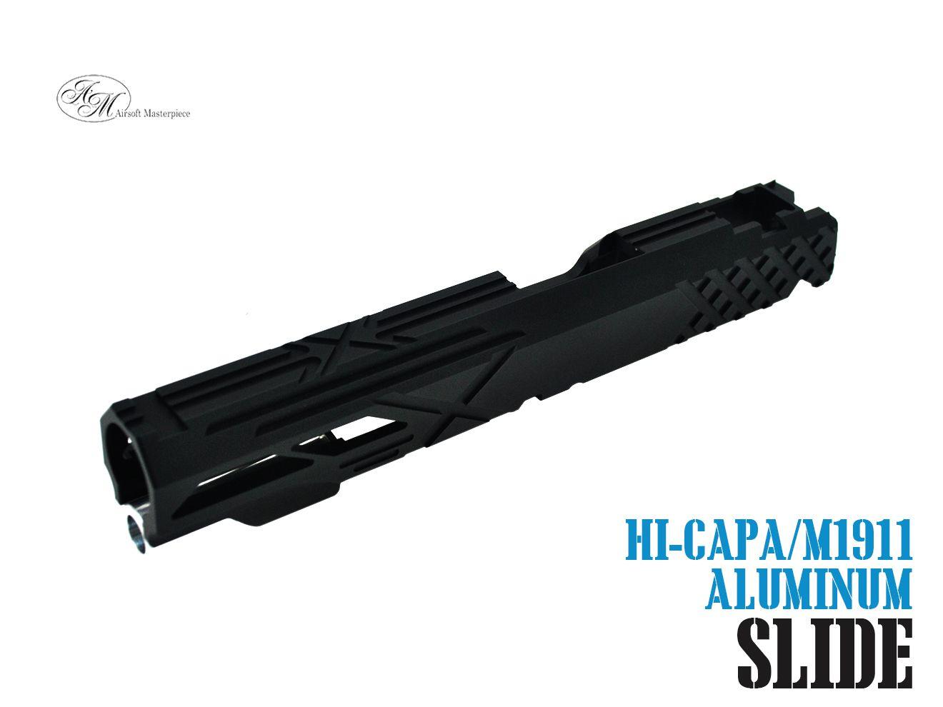 Airsoft Masterpiece Custom X2 スタンダード スライド For TM Hi-Capa/1911 GBB BK★黒 ブラック マスターピース Hi-CAPA M1911 ハンドガン