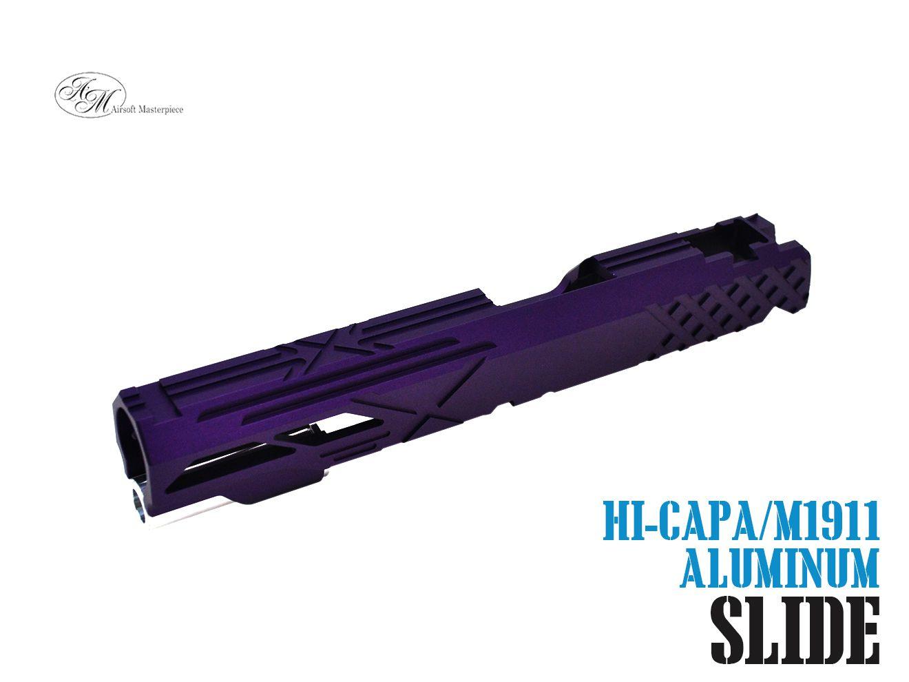 Airsoft Masterpiece Custom X2 スタンダード スライド For TM Hi-Capa/1911 GBB PP★紫 パープル マスターピース Hi-CAPA M1911 ハンドガン