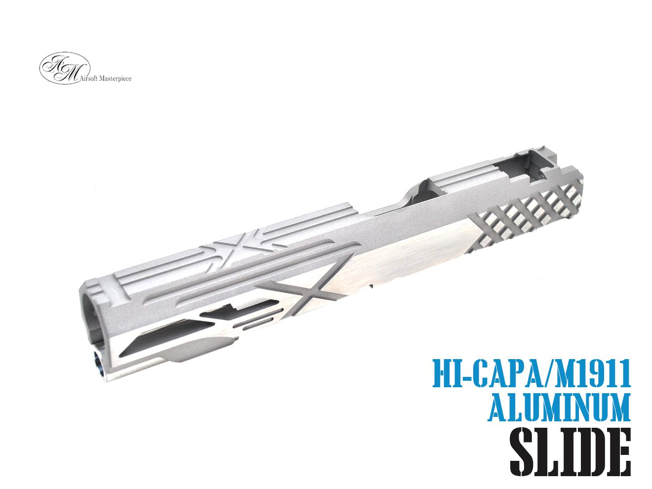 Airsoft Masterpiece Custom X2 スタンダード スライド For TM Hi-Capa/1911 GBB SV★銀 シルバー マスターピース Hi-CAPA M1911 ハンドガン