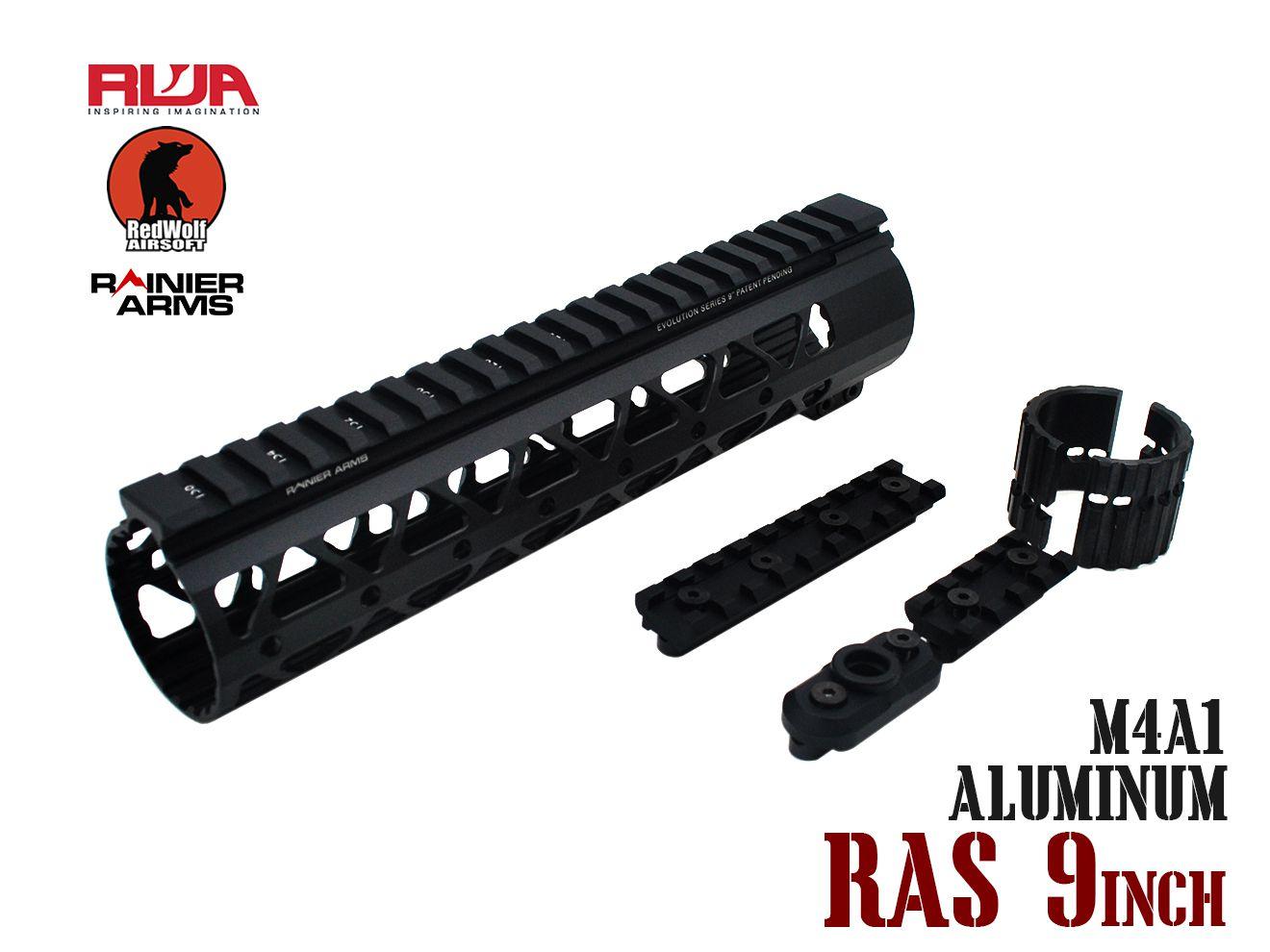 RWA Samson Rainier Arms ハンドガード 9インチ★レッドウルフ RED WOLF RAS レールシステム M4A1 MWS