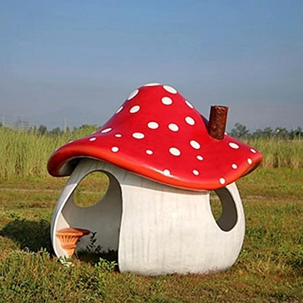 【数量限定】 キノコ のお家(おうち)[ Mushroom House ] 【送料無料対象外】, リトルトランク c25463ba